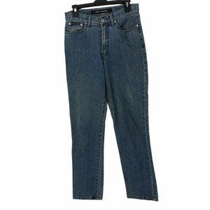 DKNY Womens 10 Distressed Tapered Leg Jeans